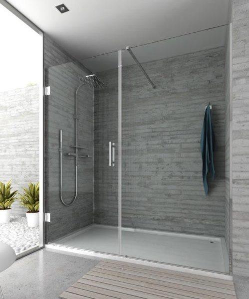 Mampara de ducha y bañera a medida Esbath EXF215IR