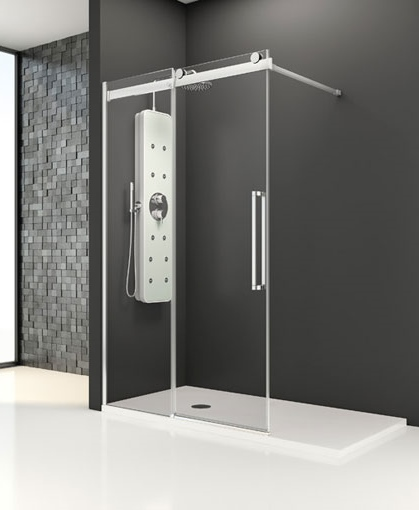 La tienda de la mampara exs215d2 mampara ducha for Mampara ducha sin perfil