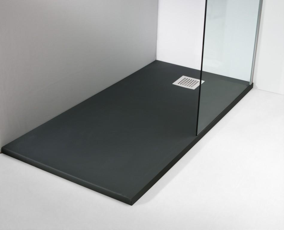 La tienda de la mampara plato de ducha granito negro - Plato de ducha negro ...